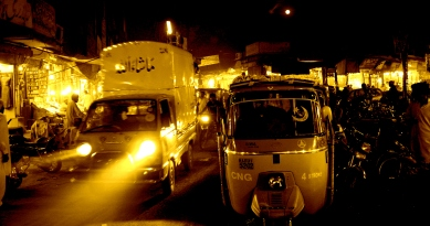 Traffic of Old Lahore