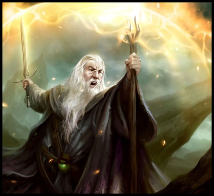OK, maybe not the intense save-the-world type magic of Gandalf Source: Art & Cookies