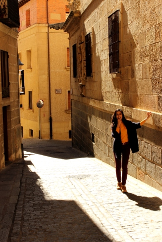 Golden streets of Segovia, Spain