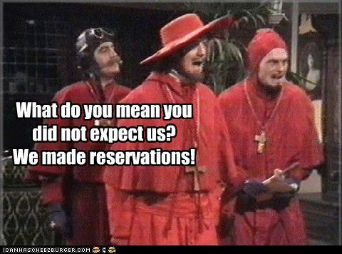 """Nobody Expects the Spanish Inquisition"" - Monty Python Sketch"