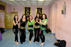At the Karnak School of Oriental Dance right before the 2013 end-of-year show!