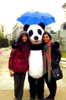 Tara and I with Señor Panda
