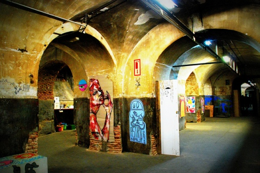 The Tabacalera in Lavapies, a tobacco factory converted to an art space