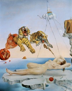 """""""Dream caused by the Flight of a Bee..."""" by Salvador Dali at Museo Thyssen-Bornemisza"""