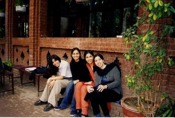 Ahh, squeaky-faced high school days! Lahore Grammar School, Janurary 2003