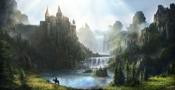 The Fairy King's castle in Paristan