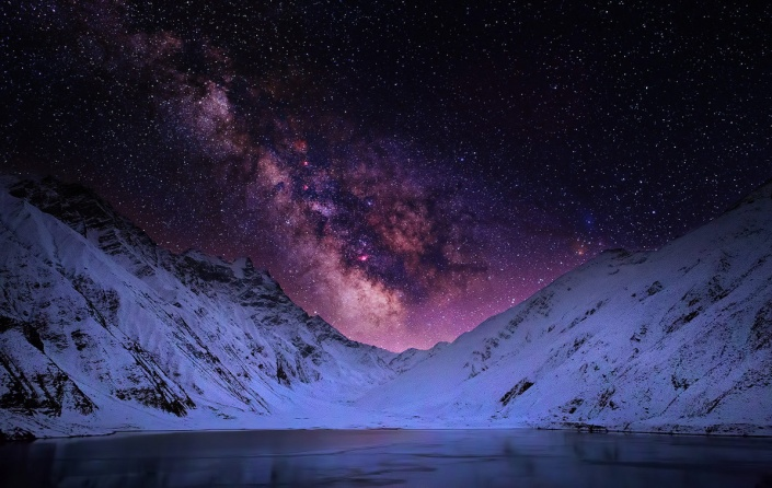 Lake Saif-ul-Malook at night