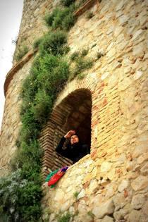 Medieval Moorish tower in Zahara de la Sierra, Spain